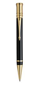Bút bi Parker Duofold black cài vàng