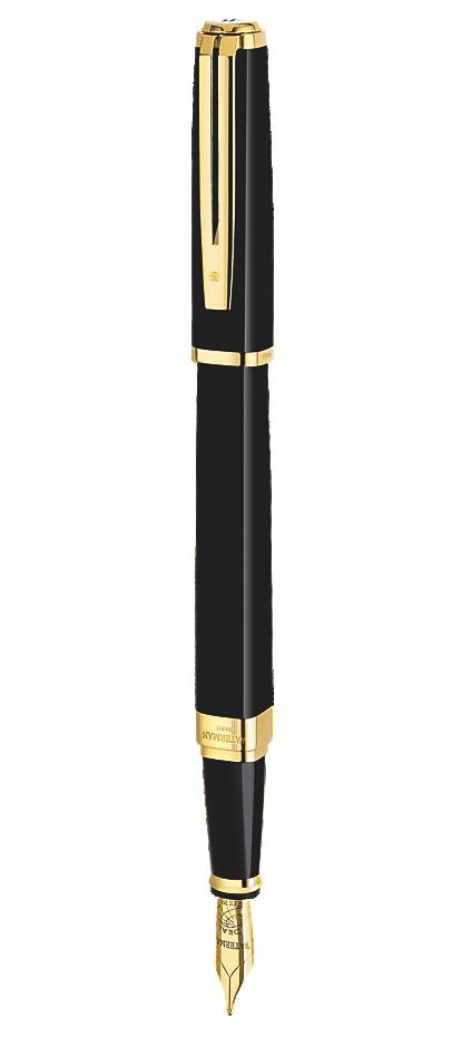 Bút Máy waterman Exception Slim Black cài vàng