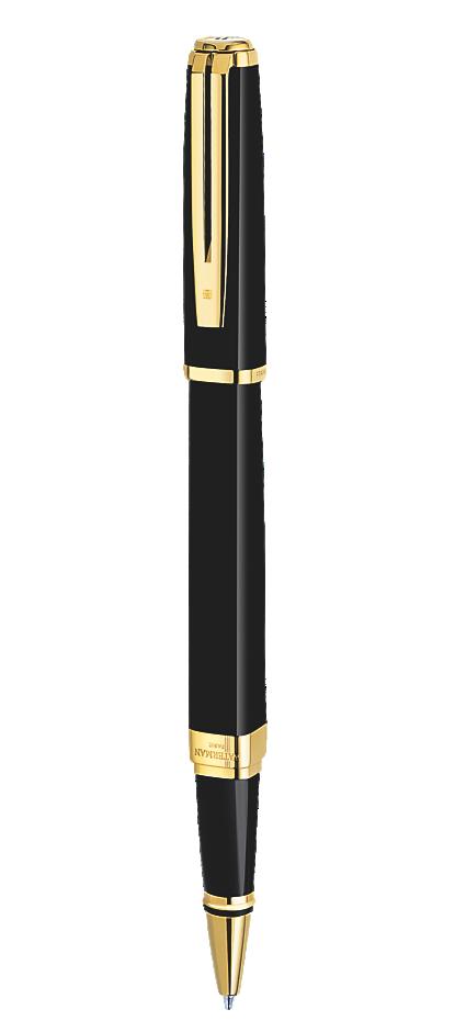 Bút dạ Waterman Exception slim black cài vàng