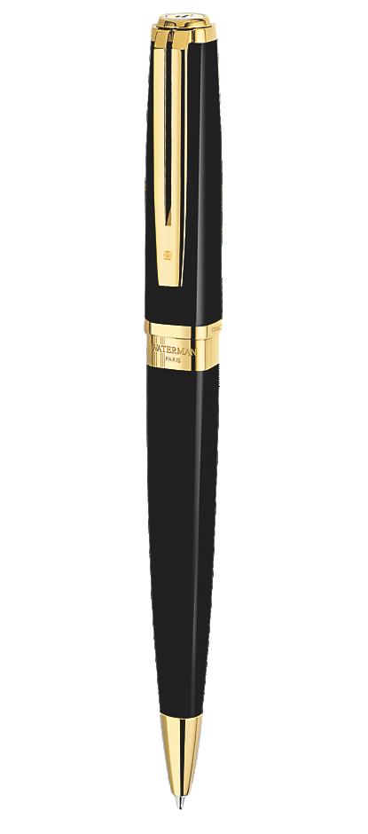 Bút bi Waterman Exception slim Black cài vàng