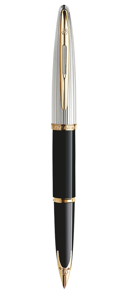 Bút máy waterman Carene Dulux black cài vàng