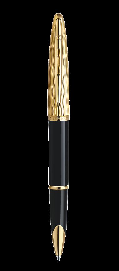 Bút dạ Waterman Essential black nắp vàng cài vàng
