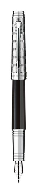 Bút máy parker Premier dulux black cài trắng
