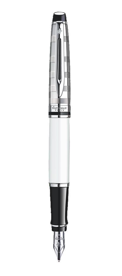 Bút máy waterman Expert 3 Dulux white cài trắng
