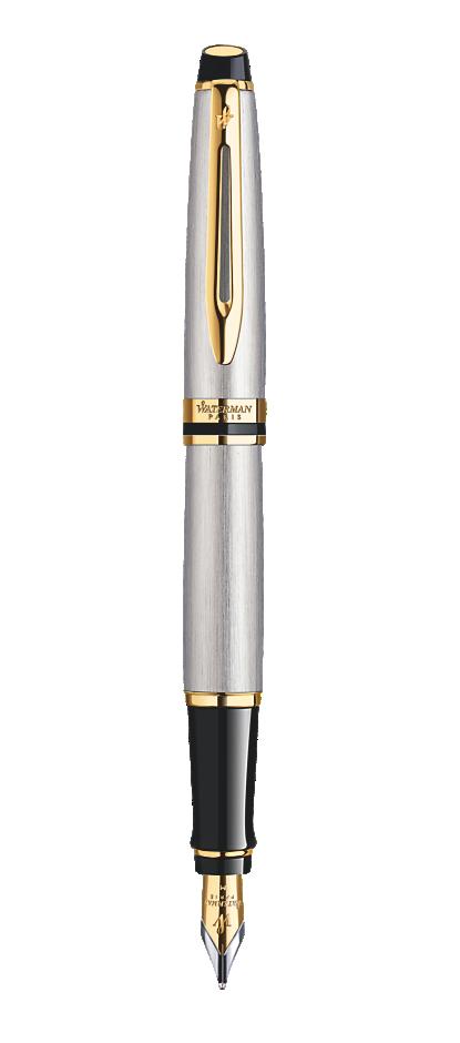 Bút máy Waterman expert vỏ thép cài vàng