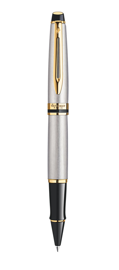 Bút dạ Waterman expert vỏ thép cài vàng