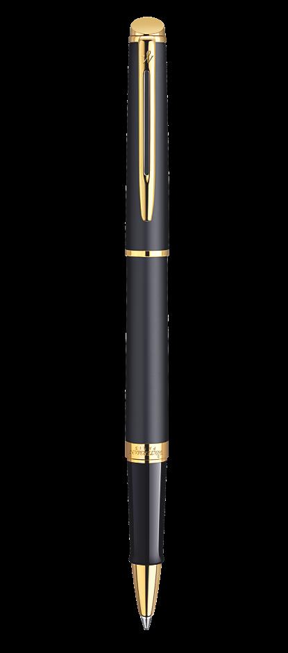 Bút dạ waterman hemisphere 10 đen mờ cài vàng