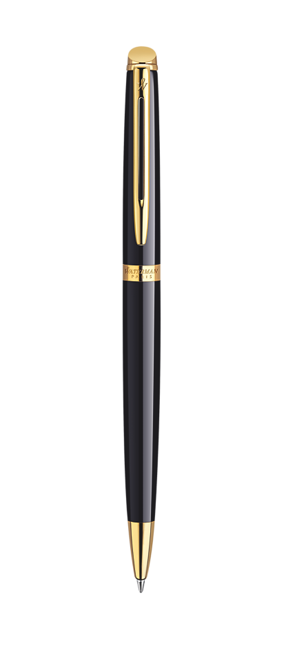 Bút bi Waterman Hemisphere 10 laque Black cài vàng