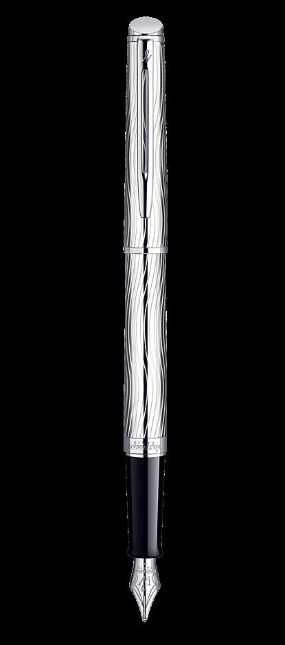 Bút máy Waterman Hemisphere10 Duluxe Metal cài trắng