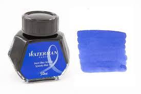 Mực Waterman màu xanh Blue nhẹ nhàng (Lọ 50ml)