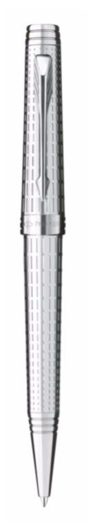 Bút bi parker Premier 09 Silver cài trắng