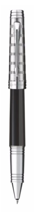 Bút dạ bi parker Premier dulux black cài trắng