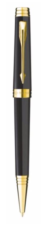 Bút bi parker Premier black cài vàng