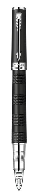 Bút Parker Ingenuity Black Rubber cài trắng