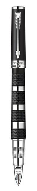 Bút Parker Ingenuity Black Rubber & Metal cài trắng