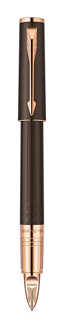 Bút dạ parker ingenuty loại nhỏ Brown Rubber cài vàng