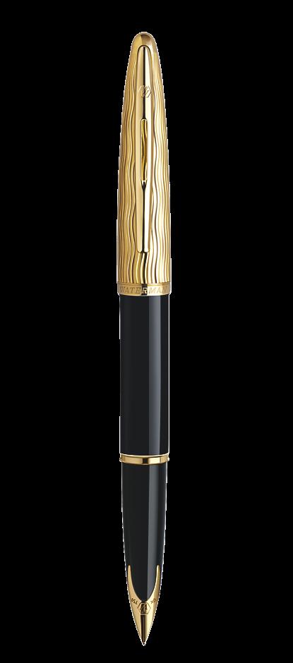 Bút máy Waterman Essential black nắp vàng cài vàng