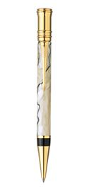 Bút bi parker Duofold 07 vân ngọc trai cài vàng