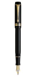 Bút máy parker Duofold 05 black cài vàng