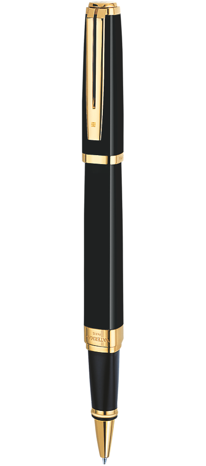 Bút dạ bi Waterman Exception Idea Black cài vàng