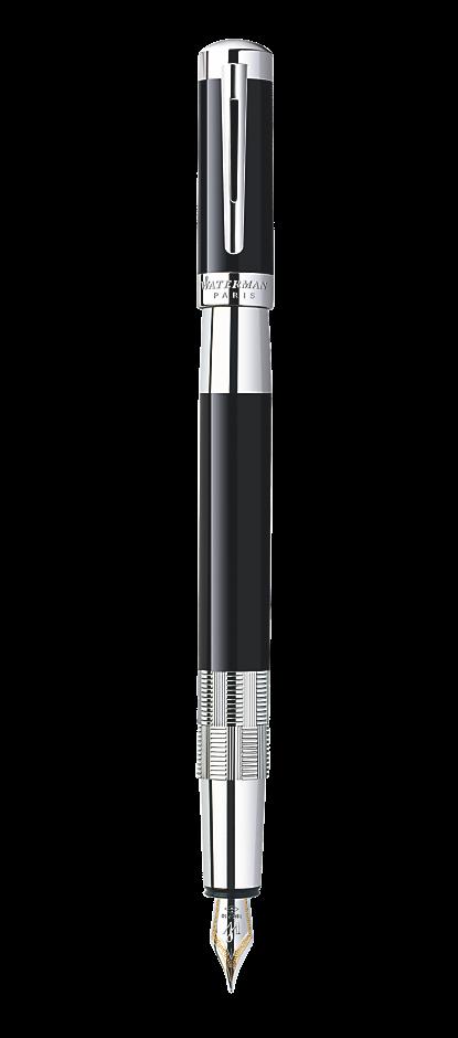 Bút máy Waterman Elegance black cài trắng