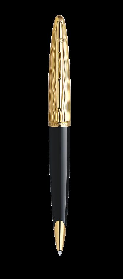 Bút bi Waterman Essential black nắp vàng cài vàng