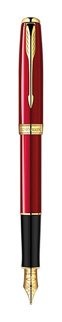 Bút máy Parker Sonnet 13 Red cài vàng