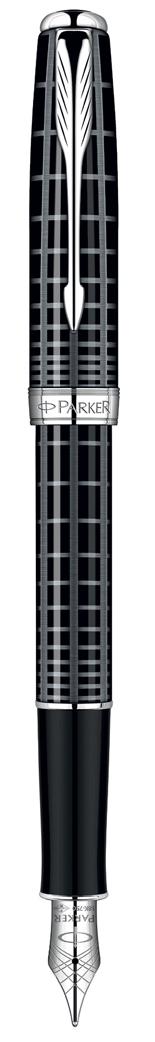 Bút máy Parker Sonnet 10 Grey Black cài trắng