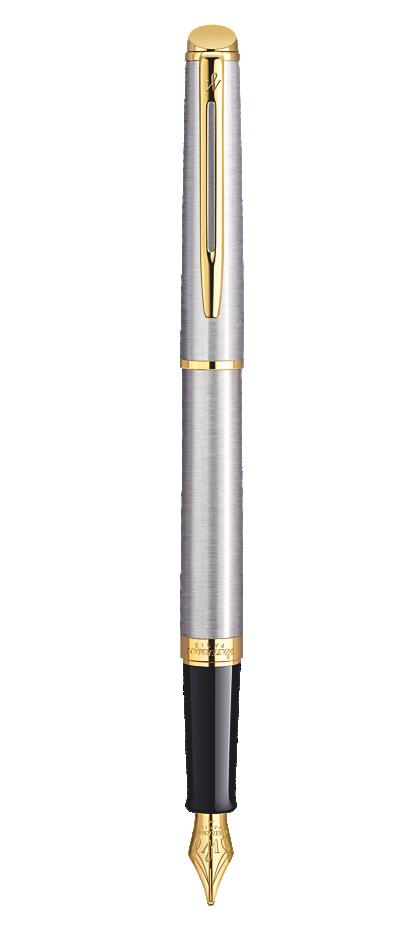 Bút máy waterman Hemisphere 10 vỏ thép cài vàng