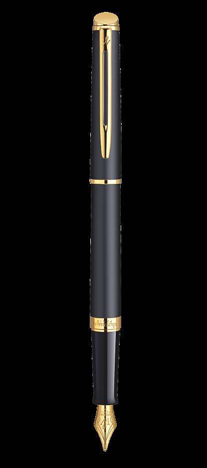 Bút máy Waterman hemisphere 10 đen mờ cài vàng