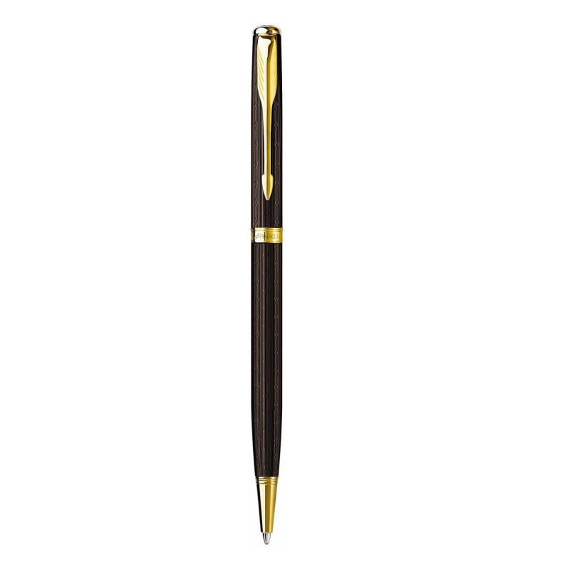 Bút bi parker sonnet 07 CH brown cài vàng