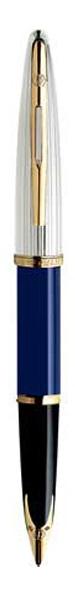 Bút máy waterman Carene Dulux blue cài vàng