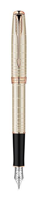 Bút máy Parker Sonnet 13 Silver cài vàng hồng